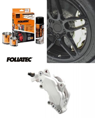 Foliatec Car Motorbike Brake Caliper Paint Kit White Gloss Brush On High Temp